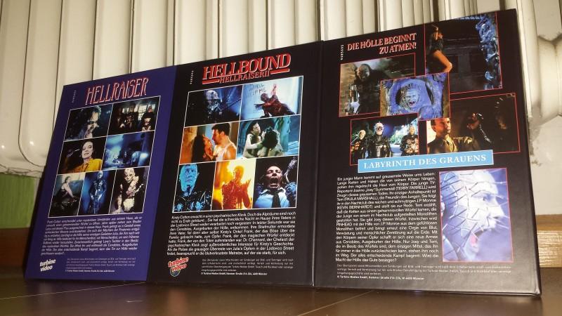 Hellraiser 1 2 3 - Turbine BD Mediabook s - NEU