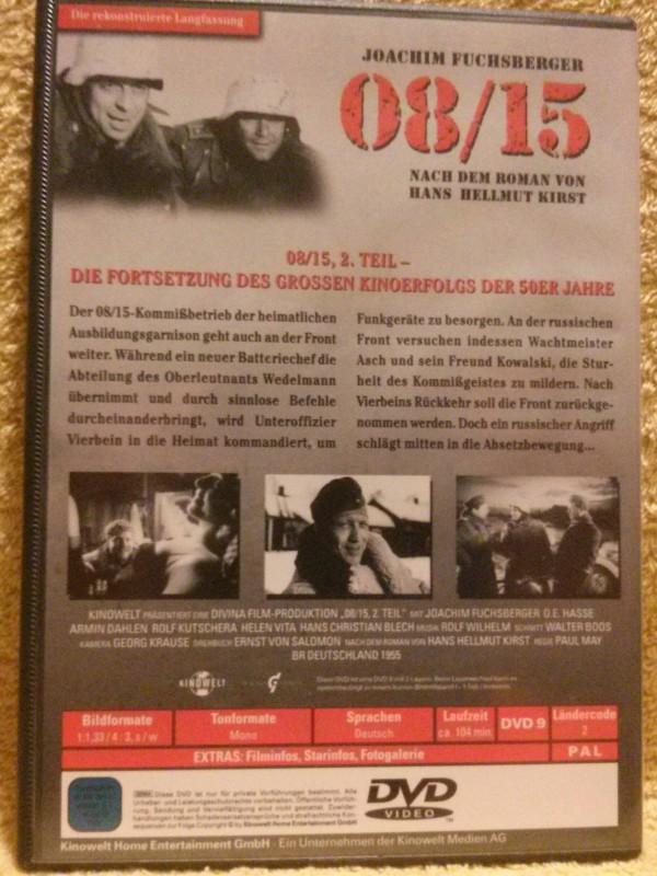 08/15 Teil 2 Dvd rekonstruierte Langfassung J. Fuchsberger