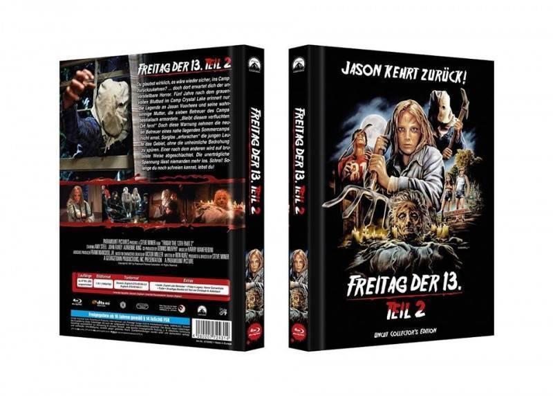 Freitag der 13. Teil 2 Jason kehrt zurück Mediabook D 333Ovp