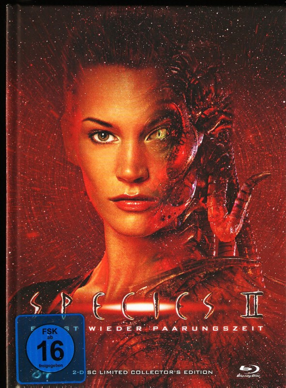 Species II 2 Mediabook B 008/333 Ovp Uncut 2-Disc Limited 84