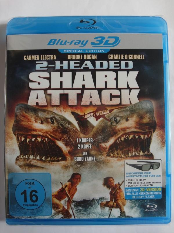 2-headed Shark Attack 3D - Asylum Horror Trash, Tsunami, Hai