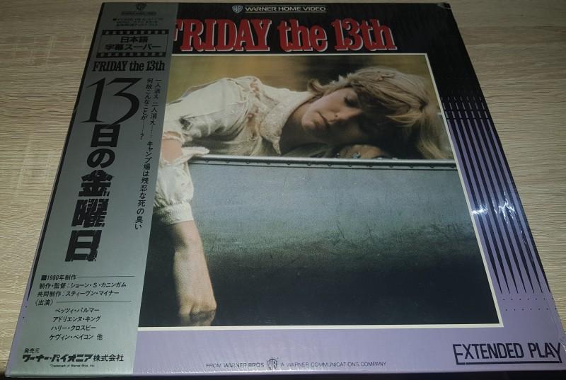 Freitag der 13. Teil 1 Laserdisc RAR OBI Friday the 13th LD