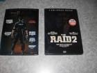 4 DVDs THE RAID 1&2 in geprägten Pappschubern UNCUT
