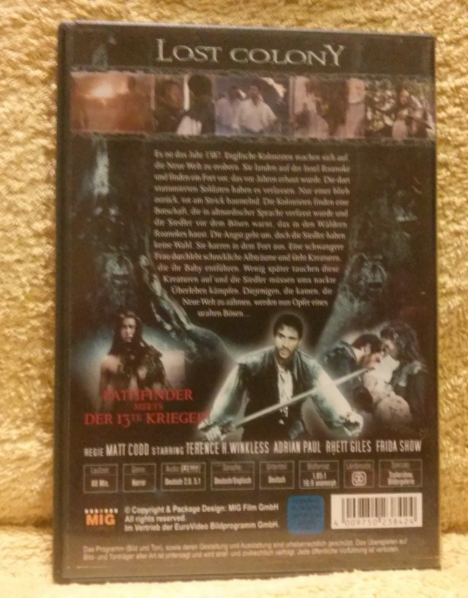 Lost Colony Dvd Uncut Adrian Paul (P)