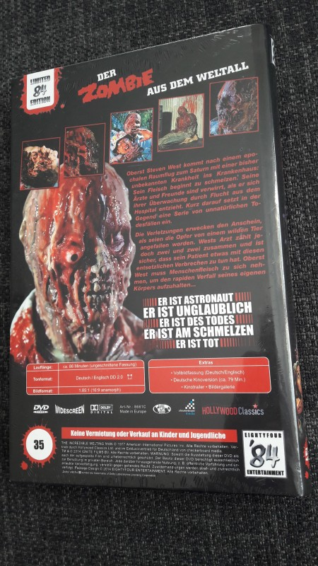 Der Zombie aus dem Weltall - '84 Hartbox - 35/84 - NEU