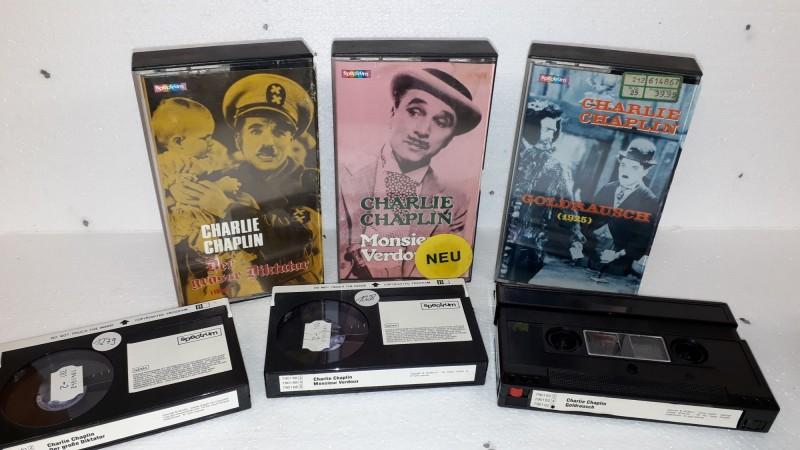 Spectrum GLASBOX Charlie Chaplin Verdoux Diktator Goldrausch