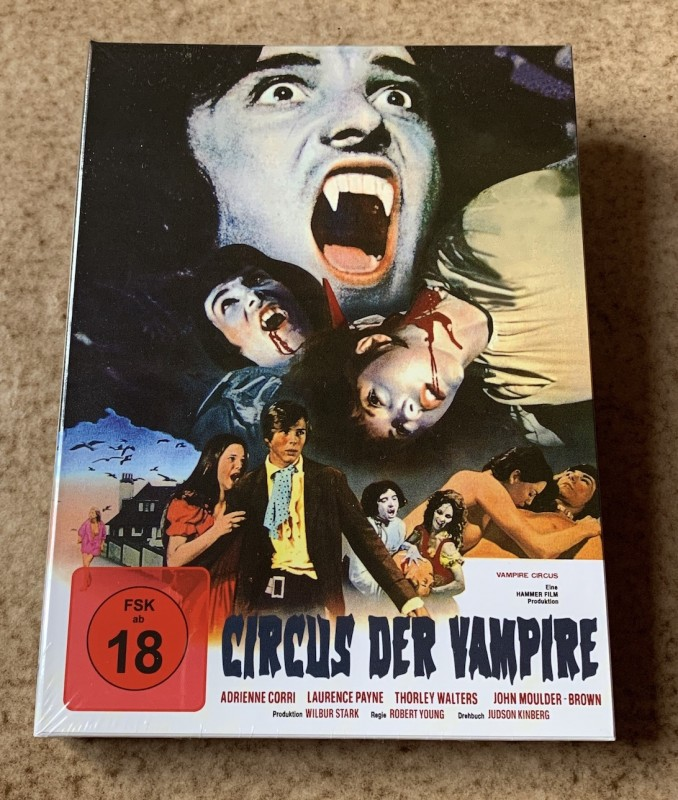 Blu-ray * CIRCUS DER VAMPIRE (1972) * Mediabook