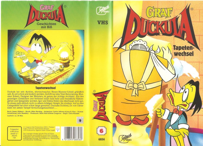 Graf Duckula - Tapetenwechsel - Select Video - VHS