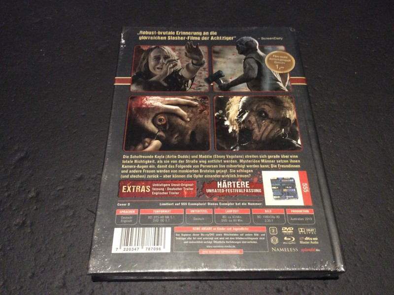 The Furies Limited unrated MEDIABOOK Cover D OVP