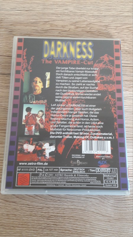 DARKNESS The Vampire-Cut Leif Jonkers ASTRO Kult Klassiker