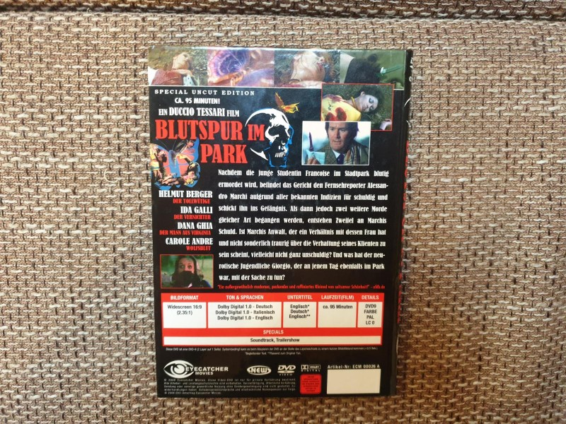 DVD BLUTSPUR IM PARK ( Giallo ) Special Uncut Edition / OOP