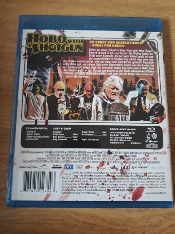 Blu Ray Hobo with a Shotgun UNCUT Grindhouse Rutger Hauer