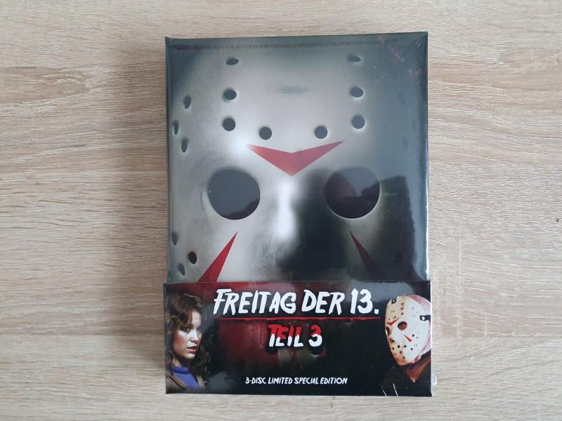Freitag der 13. Teil 3, wattiertes 3 Disc Mediabook, NEU!!!