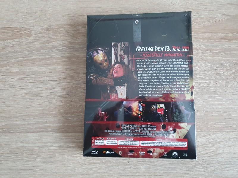 Freitag der 13. Teil 8, wattiertes 3 Disc Mediabook, NEU!!!