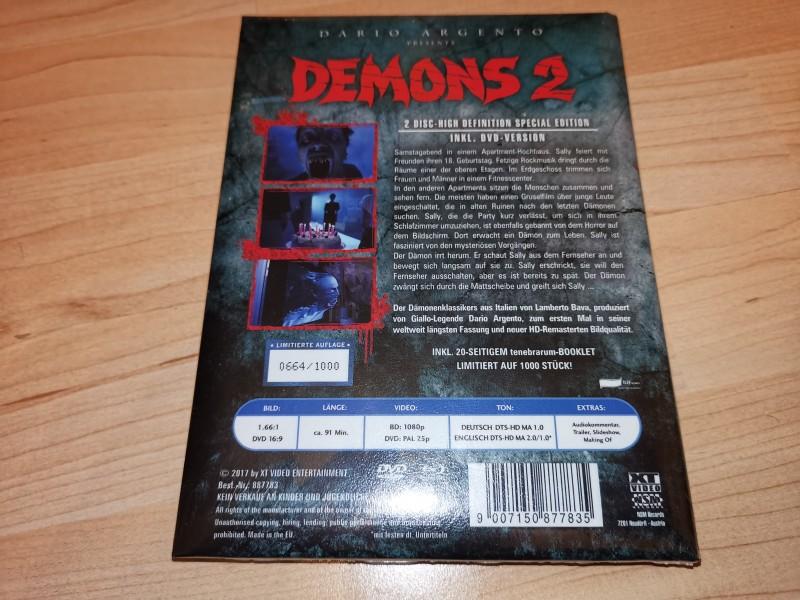 Demons 2 MEDIABOOK wattiert OVP oop rar lim 664/1000 XT