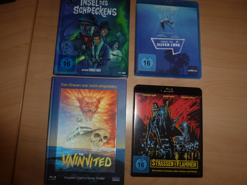 Blu-Ray-Rar.(Uninvited MB,Insel d. Schreckens MB,Strassen in