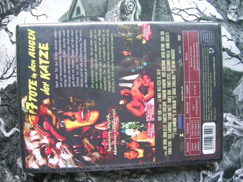 7 TOTE IN DEN AUGEN DER KATZE UNCUT X-RATED DVD NEU OVP