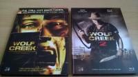 WOLF CREEK 1 & 2 (3 Disc) Mediabook UNCUT UNRATED