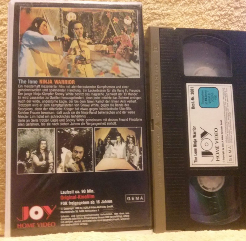 The lone Ninja Warrior VHS selten!