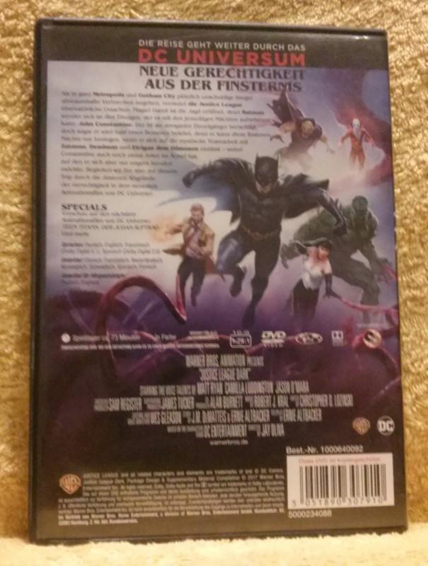 Justice League DARK DC Universe Animated Movie DVD (Y)