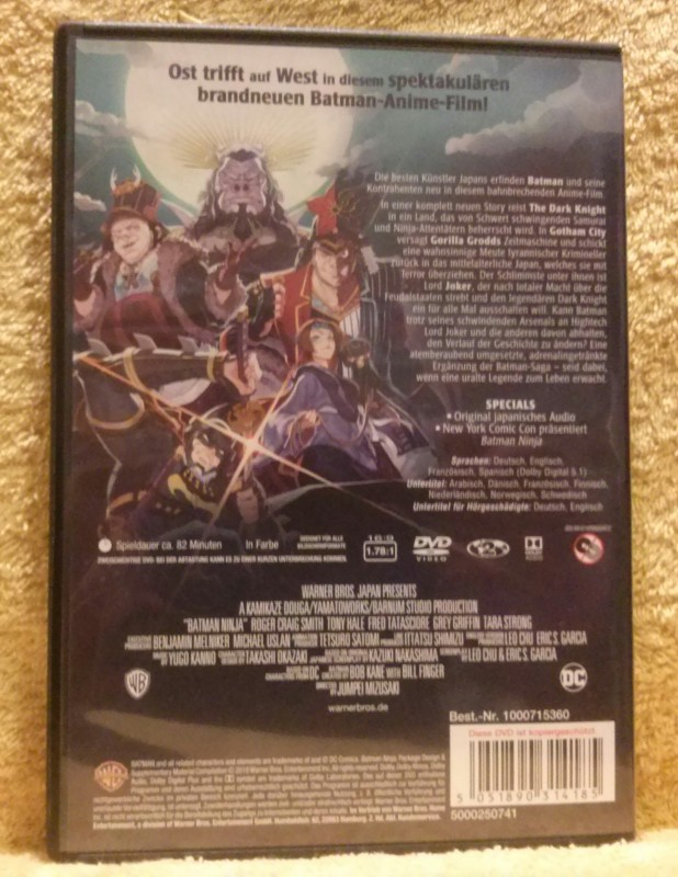 BATMAN NINJA DC Universe Animated Movie DVD (Y)