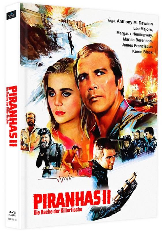 Killerfish Piranhas 2 - Blu-ray Mediabook F Lim 75 OVP