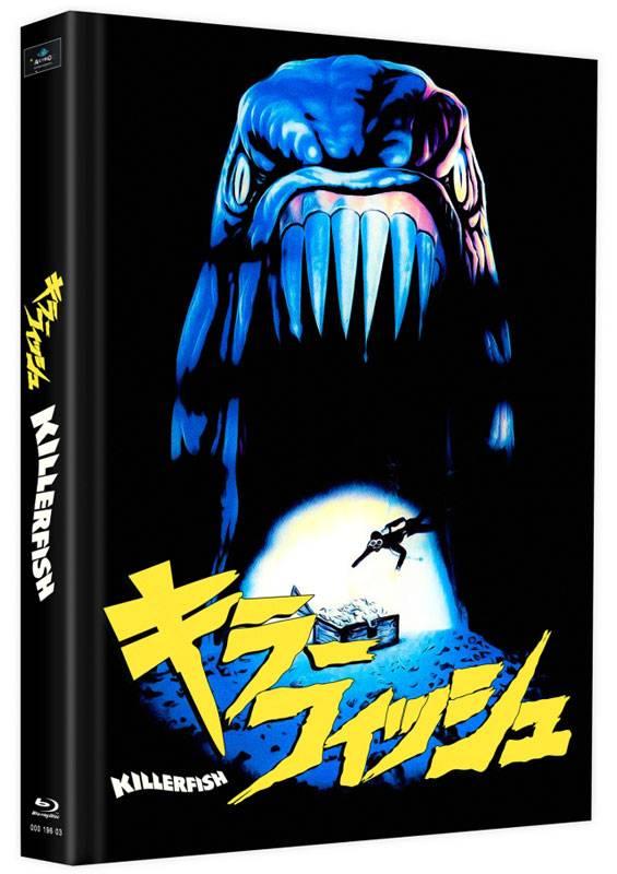 Killerfish Piranhas 2 - Blu-ray Mediabook K Lim 75 OVP
