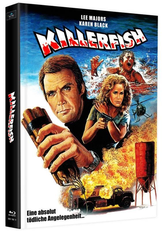 Killerfish Piranhas 2 - Blu-ray Mediabook L Lim 75 OVP