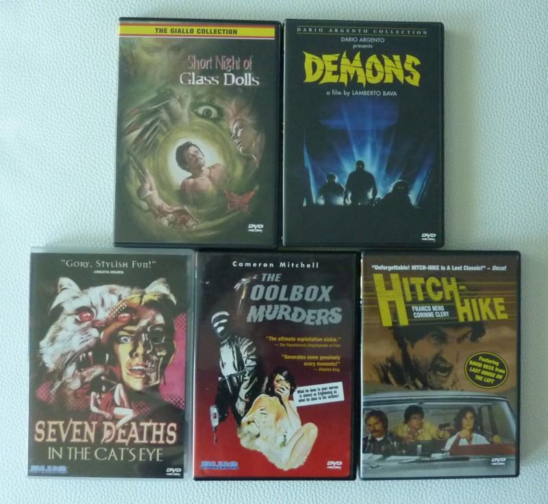 Sammlung US DVDs (codefree) u.a. Demons, toolbox murders..