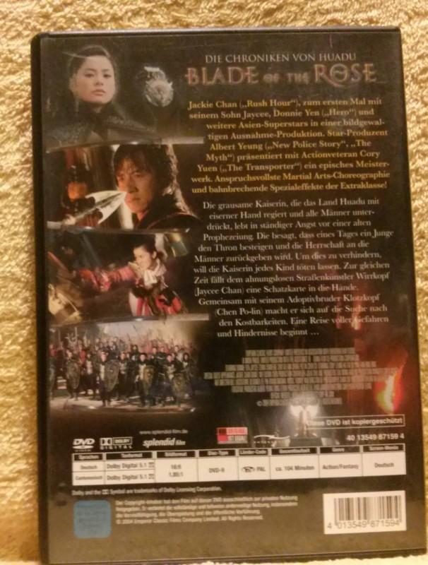 Blade Of The Rose Dvd Uncut (S) Jackie und Jaycee Chan