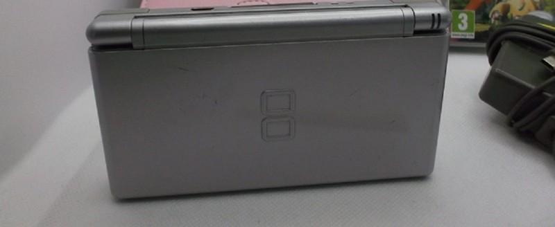 Nintendo DS lite Konsole Silber Edition&6xSpiele!