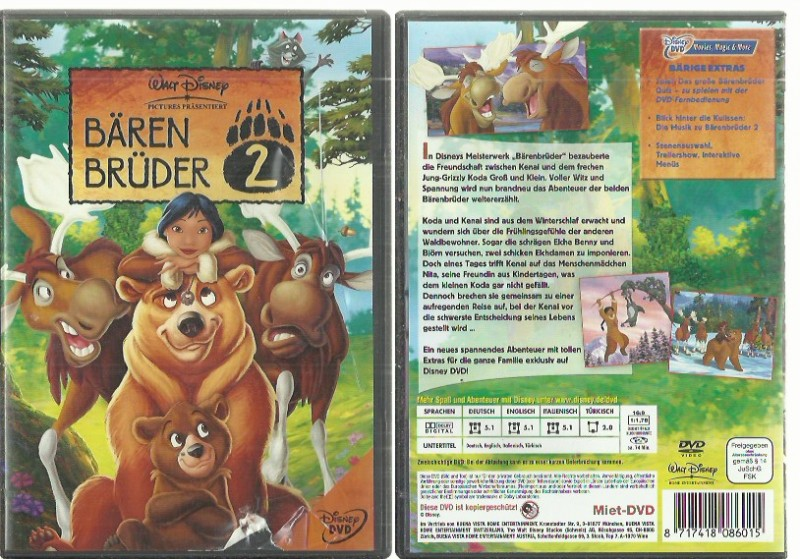 Bärenbrüder 2(00021452 Animation, Kinderfilm Konvolag
