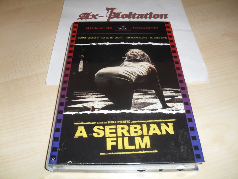 Ax-ploitation exklusiv: A Serbian Film - Große Hartbox - Limitiert 36/40 Blu Ray OVP UNCUT