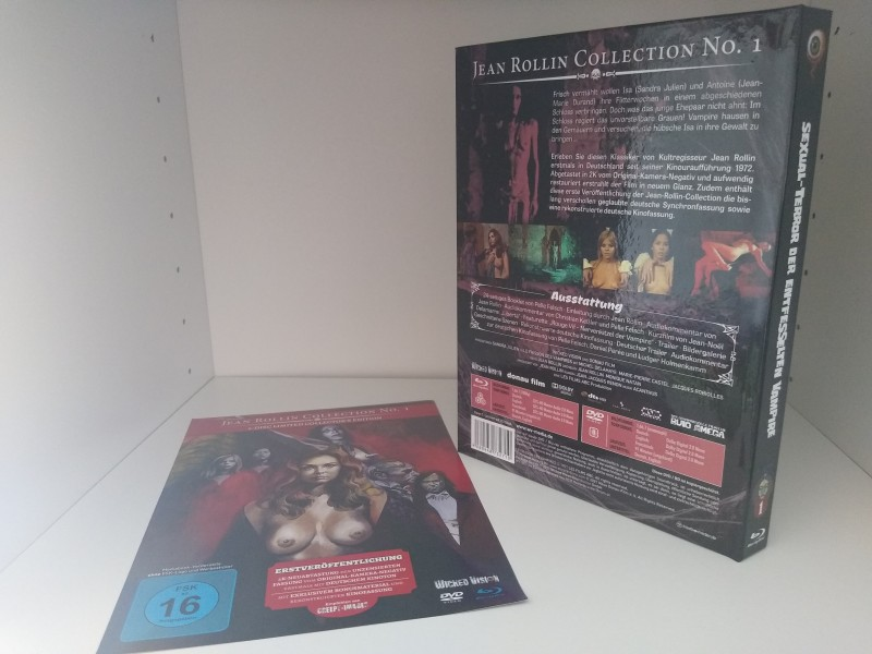SEXUAL-TERROR DER ENTFESSELTEN VAMPIRE (Jean Rollin Collection 1) - Wicked Vision Mediabook - OOP!