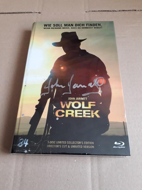 WOLF CREEK - gr. 3 Disc Blu-ray Hartbox mit Autogramm von John Jarrat Nr. 27/84 OVP