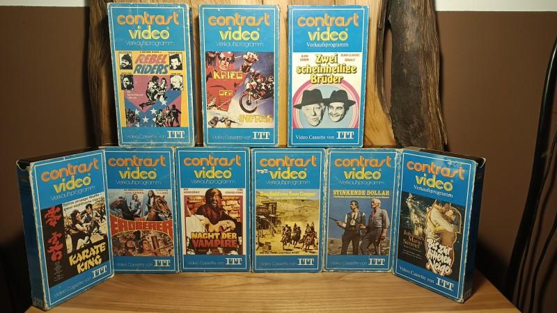 ITT Contrast Pappe VHS Set Krieg der Infras .. Nacht der Vampiere  .. Karate King usw