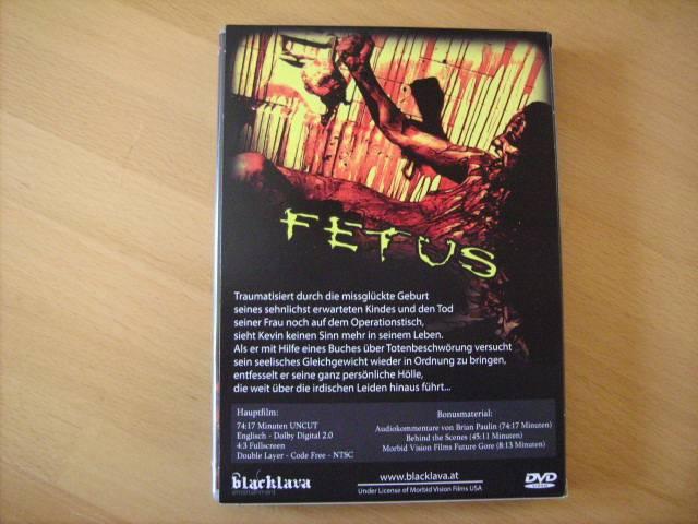 Fetus - Amateur Schocker - DVD von Black Lava im Schuber