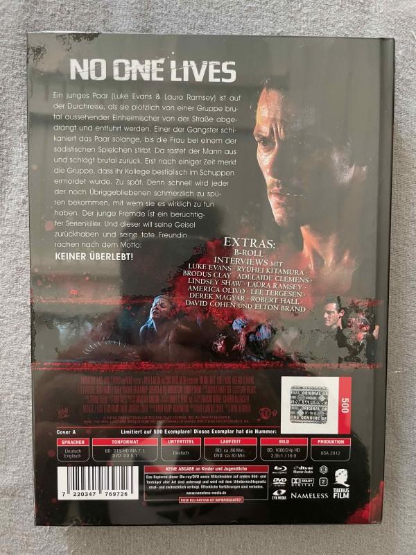 * * NO ONE LIVES - BLU RAY/DVD - MEDIABOOK - NAMELESS - NEU & OVP * *