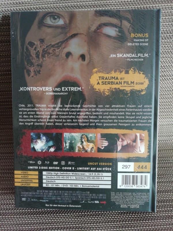 Trauma Cover D Illusions Blu-ray Mediabook Neu & Ovp