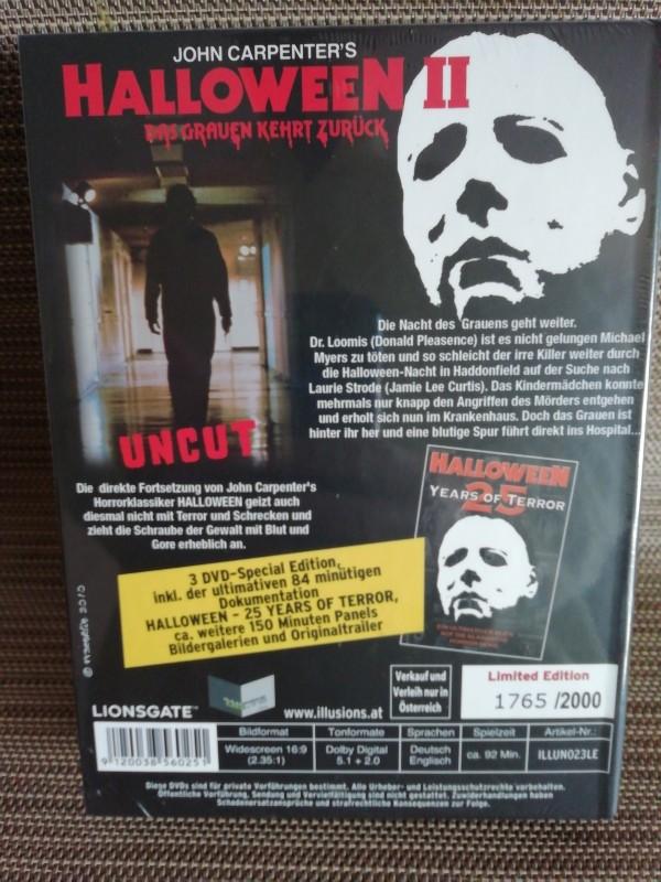 Halloween 2 Illusions Mediabook Erstauflage Neu & Ovp