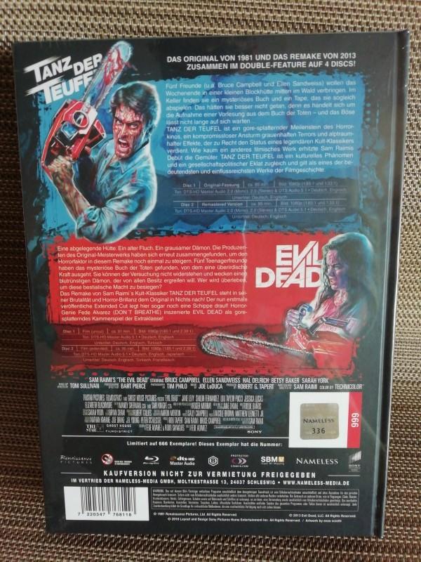 Tanz der Teufel Evil Dead Double Feature Nameless Blu-ray Mediabook Neu & Ovp
