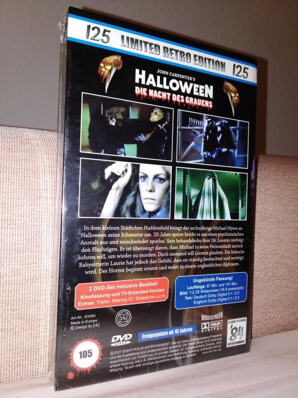 Halloween   gr. 84 DVD Hartbox   LIMITED RETRO EDITION   Neu+Ovp