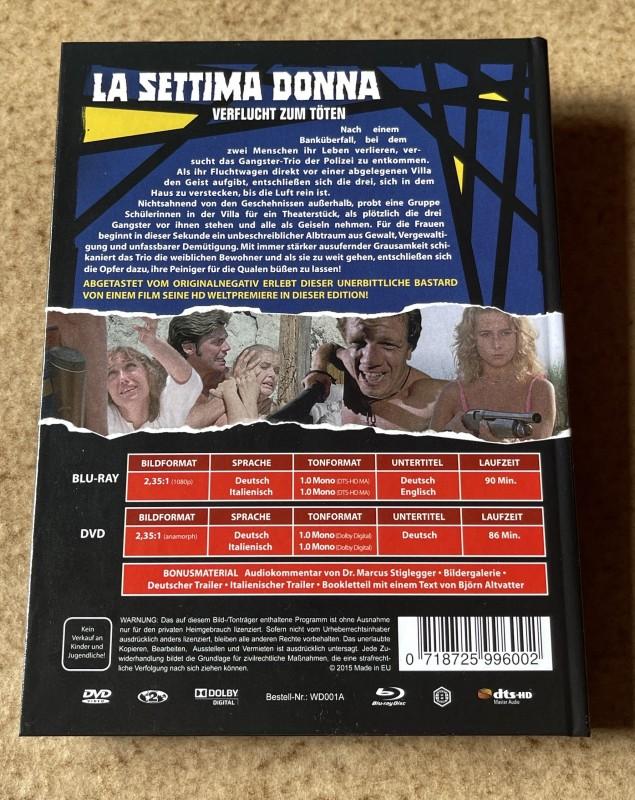 Blu-ray * LA SETTIMA DONNA - Verflucht zum Töten (1978) * Mediabook