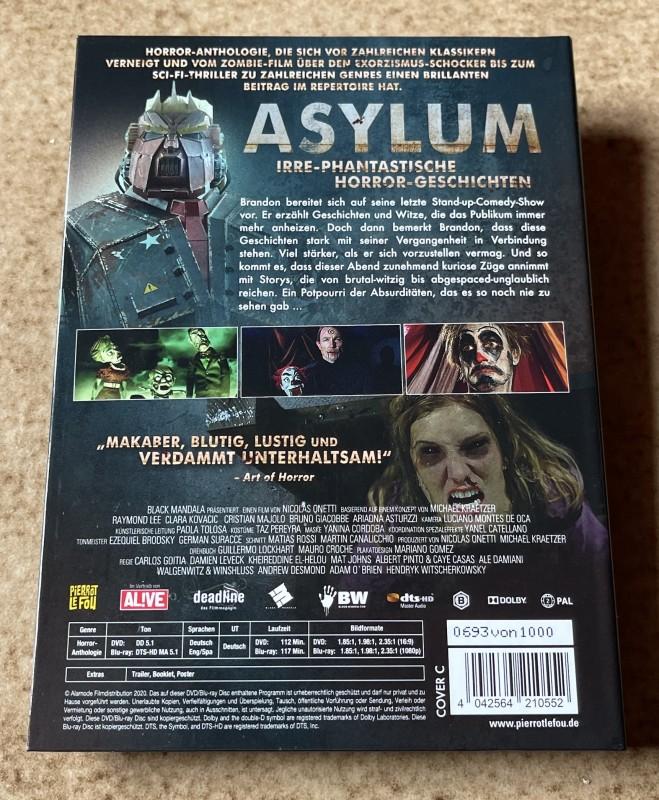Blu-ray * ASYLUM (2020) * Mediabook