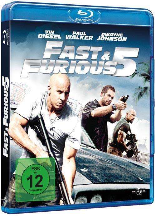BLU-RAY/DVD in Pappschuber  FAST & FURIOUS 5 WIE NEU