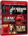 A Serbian Film + Saw Massacre + Blood Dungeon - Blu Ray Neu